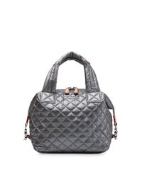 MZ Wallace - Gray Small Sutton Satchel - Lyst