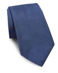 Polo Ralph Lauren - Blue Silk Micro Faille Tie for Men - Lyst