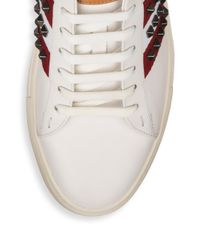 Bally - White Helvio Studded Low Top Sneakers for Men - Lyst