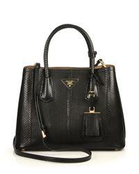 Prada - Black Ayers Double Bag - Lyst