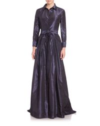 Carolina Herrera | Blue Taffeta Ball Gown | Lyst