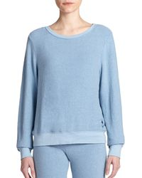 Wildfox | Blue Boatneck Sweatshirt | Lyst