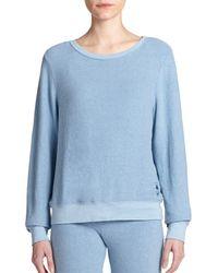 Wildfox | Blue Boatneck Sweatshirt | Lyst