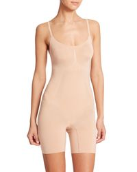 Spanx | Natural Oncore Mid-thigh Bodysuit | Lyst