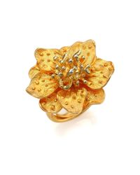 Kenneth Jay Lane | Metallic Anemone Flower Ring | Lyst