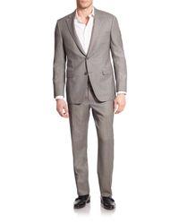 Saks Fifth Avenue | Gray Samuelsohn Striped Wool Suit for Men | Lyst