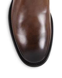 To Boot - Brown Harrison Leather Side-zip Boots for Men - Lyst