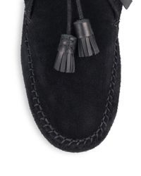 Rag & Bone | Black Ghita Leather & Suede Moccasin Ankle Boots | Lyst