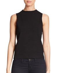 MILLY | Black Knit Shell | Lyst