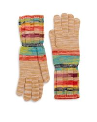 Missoni | Multicolor Striped Wool-blend Gloves | Lyst