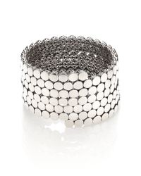 John Hardy | Metallic Dot Sterling Silver Multiple Coil Bracelet | Lyst