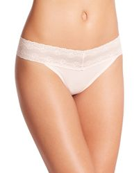 Natori Foundations | Pink Bliss Perfection Thong | Lyst