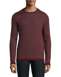 Saks Fifth Avenue | Red Square Patterned Silk & Cashmere Jacquard Sweater for Men | Lyst