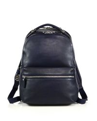 Shinola | Blue Runwell Leather Backpack for Men | Lyst