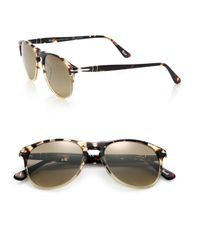 Persol | Brown 55mm Pilot Sunglasses for Men | Lyst