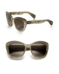 Oliver Peoples   Gray Emmy 55mm Upswept Sunglasses   Lyst