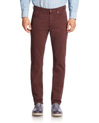 Incotex - Red Cotton Stretch Casual Pants for Men - Lyst
