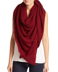 Bajra | Red Felted Wool Net-weave Square Scarf | Lyst