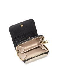 Chloé - Black Drew Two-tone Square Leather Wallet - Lyst