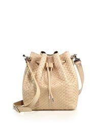 Proenza Schouler - Natural Medium Python Bucket Bag - Lyst