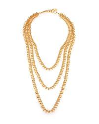 Nest | Metallic Three-strand Teardrop Chain Necklace | Lyst