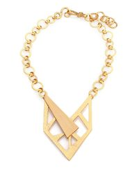 Stephanie Kantis - Metallic Contour Bib Necklace - Lyst