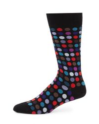 Paul Smith | Black Multi Dot Socks for Men | Lyst