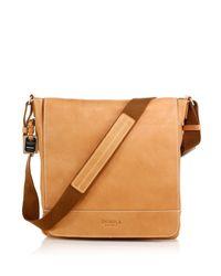 Shinola - Brown Pressed Essex Leather Messenger Bag - Lyst