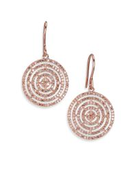 Astley Clarke | Metallic Icon Aura Grey Diamond & 14k Rose Gold Drop Earrings | Lyst