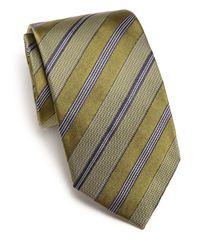 Eton of Sweden - Green Textured Striped Tie for Men - Lyst
