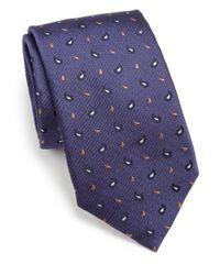 Eton of Sweden - Brown Textured Paisley Silk Tie for Men - Lyst