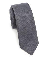 Saks Fifth Avenue   Gray Modern Textured Wool & Silk Tie for Men   Lyst
