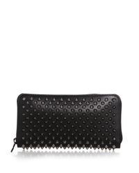 Christian Louboutin | Black Panettone Spiked Zip-around Wallet | Lyst
