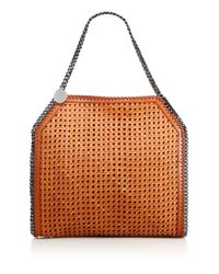 Stella McCartney | Brown Falabella Baby Bella Woven Faux Leather Tote | Lyst