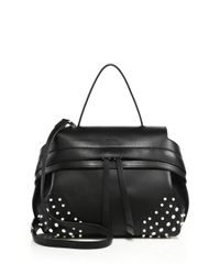 Tod's | Black Wave Mini Pebbled Leather Crossbody Bag | Lyst