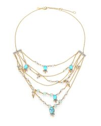 Alexis Bittar - Metallic Elements Crystal, Howlite & Fluorite Spike Accented Multi-strand Necklace - Lyst