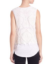 Generation Love - White Nori Lace Overlay Tank Top - Lyst