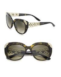 BVLGARI | Multicolor 55mm Crystal-embellished Acetate & Metal Cat Eye Sunglasses | Lyst