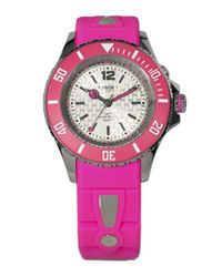 Kyboe | Neon Pink Silicone & Stainless Steel Strap Watch/40mm | Lyst