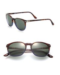 Persol | Blue Two-tone 53mm Square Sunglasses for Men | Lyst