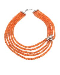 John Hardy | Orange Legends Cobra Peach Moonstone, Citrine & Sterling Silver Beaded Multi-strand Necklace | Lyst