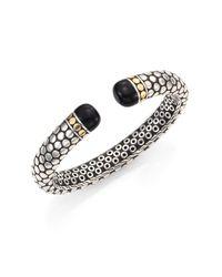 John Hardy | Metallic Batu Dot Black Onyx, 18k Yellow Gold & Sterling Silver Cuff Bracelet | Lyst