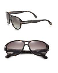 Tom Ford | Black Dylan 57mm Aviator Sunglasses for Men | Lyst