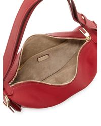 Ferragamo - Red Gancio Bracelet Small Leather Hobo Bag - Lyst