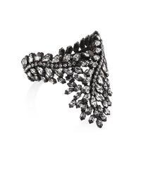 Erickson Beamon - Black Frequent Flyer Crystal Leaf Bracelet - Lyst
