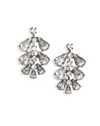 Erickson Beamon - Metallic Frequent Flyer Crystal Leaf Earrings - Lyst