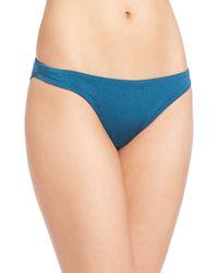 MILLY   Blue Italian Solid Swim Capri Triangle Bikini Top   Lyst