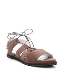 Frēda Salvador - Brown Wise Suede Ghillie Gladiator Sandals - Lyst
