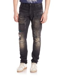 PRPS | Gray Slim-fit Distressed Jeans for Men | Lyst