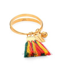 Chloé   Multicolor Janis Tassel Bangle Bracelet   Lyst